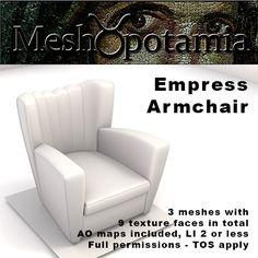 Meshopotamia Empress Armchair 002 w AO textures