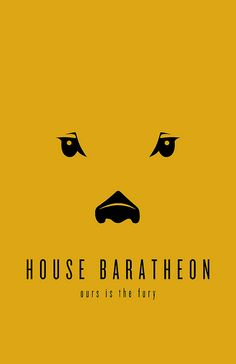 House Baratheon Minimalist Poster by Thomas Gateley