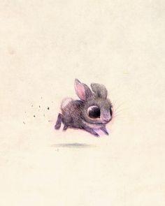 Bunny Art Print by Syd Hanson | Society6