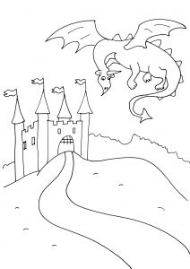 Knights And Dragons Free Printable Coloring Pages For Kids Dragon Coloring Page Coloring Pages Coloring Pages For Kids