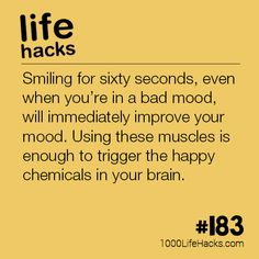 The post – Boost Your Mood By Smiling appeared first on 1000 Life Hacks. The post – Boost Your Mood By Smiling appeared first on 1000 Life Hacks. Simple Life Hacks, Useful Life Hacks, Best Life Hacks, Hack My Life, Daily Life Hacks, 1000 Lifehacks, Look At You, Things To Know, Self Help