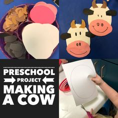 Preschool craft with cutting practice and glue placement
