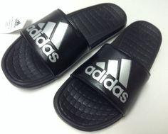 91912a2c665 adidas B36050 Voloomix Men Slide Black   Silver Sandals All Size  sandals   size  silver  black  voloomix  slide  adidas
