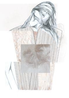 Fashion Sketchbook - fashion illustration; fashion collage; fashion portfolio // Rebecca Swann