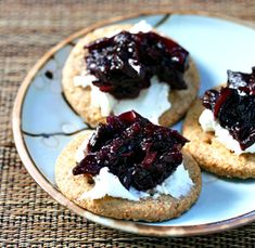Apple-blueberry chutney. Make it now, perfect for Thanksgiving.