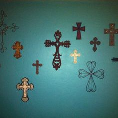 Teal Cross Wall- just might have to do this