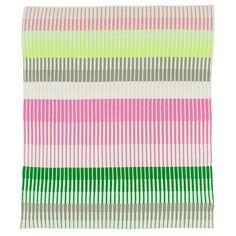Weegoamigo - Knitted Baby Blanket Ruby Stripe | Peter's of Kensington