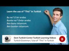 Learn Turkish grammar - this in Turkish language Turkish Lessons, Learn Turkish, Turkish Language, Grammar