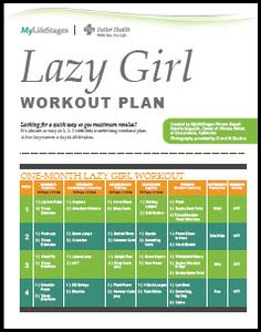 Lazy Girl Workout - Two exercises a day to a more toned you!