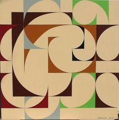 Lorenzo Bocca, Composizione n. 03/2014, acrilico su tavola, 100 cm x 100 cm