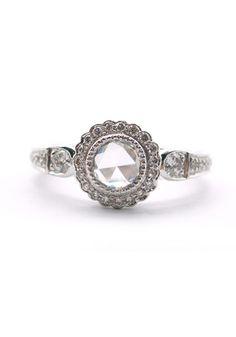 Sethi Couture Rose Cut & Pave Diamond Ring available at osterjewelers.com. #mydiamondstyle #mybridalstyle