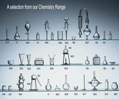 Miniature Chemistry equipment.  Hand blown by Ray Storey