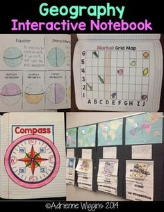 Geography Interactive Notebook: compass grid map continents oceans Me on the Map Project! Geography Activities, Geography For Kids, Geography Lessons, Teaching Geography, World Geography, Teaching History, 3rd Grade Social Studies, Social Studies Classroom, Social Studies Activities