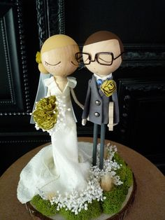 Custom cake topper by bthanari on Etsy
