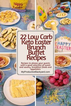 Healthy Holiday Recipes, Easy Homemade Recipes, Keto Holiday, Appetizer Buffet, Brunch Buffet, Appetizer Recipes, Easter Dinner Recipes, Easter Brunch, Keto Smoothie Recipes