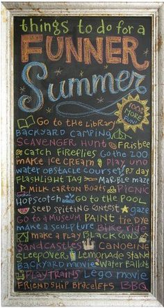 Things to do in Summer!
