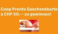 Gewinne Coop Pronto Geschenkkarte im Wert von CHF 50.–
