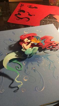Little Mermaid inspired paper art