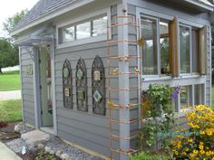 greenhouse ideas pictures | Greenhouse, We built this greenhouse from recycled windows and doors ...