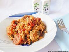 Mancare de legume la cuptor cu orez - imagine 1 mare Shrimp, Cooking Recipes, Vegan, Chicken, Easy, Food, Eten, Meals