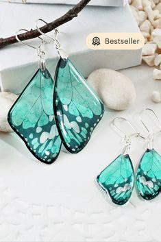 Earrings Bracelets Necklaces Rings Jewelry Gifts by Galiga on Etsy Wing Earrings, Butterfly Earrings, Small Earrings, Statement Earrings, Dangle Earrings, Bridal Earrings, Feather Earrings, Butterfly Gifts, Butterfly Wedding