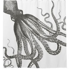 Shop Funny Vintage Octopus Tentacles Wrapping Around Shower Curtain created by UrHomeNeeds. Funny Shower Curtains, Custom Shower Curtains, Vintage Humor, Funny Vintage, Octopus Tentacles, Vintage Nautical, Wrap Around, Colorful Backgrounds, Original Artwork