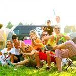 Camping galera se divertindo Festival Nature One, Alemanha