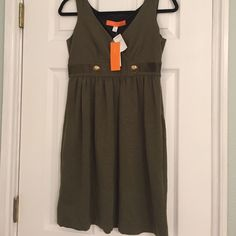 Cynthia Cynthia Steffe army green dress size 4 NWT NWT, so cute on! Army green color with brass buttons. Fabric is 65% viscose, 32% nylon, 3% spandex Cynthia Steffe Dresses
