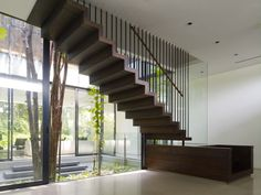 Stairs for 72 Sentosa Cove House by ONG