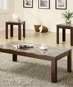 Coaster Fine Furniture 700395 3-Piece Coffee Table and End Table Set - Online Shopping Discounts