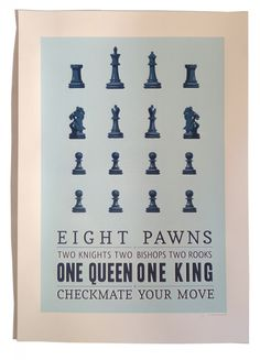 Eight Pawns - One Queen - One King  Caspar Williamson