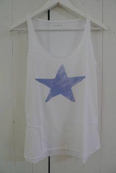 20 Violets Zomers hemdje wit, blauwe ster