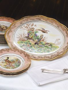 Vintage Limoges Game Bird Service