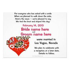 Elope Announcement Las Vegas Marriage