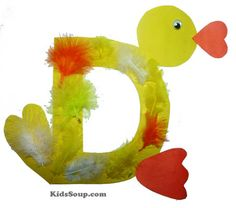 D is for Duck Craft and Activities - would look great on a Spring bulletin board.