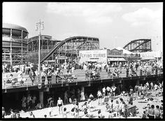 Steeplechase Park, Coney Island, Brooklyn, 1938. Photo from the New York State Archives.