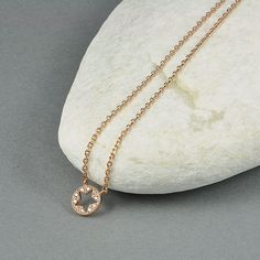zirconia star rose gold plated necklace by sunnynovember on Etsy, €21.50