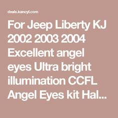 How to change spark plugs 02 07 jeep liberty 37l videos you need for jeep liberty kj 2002 2003 2004 excellent angel eyes ultra bright illumination ccfl angel eyes fandeluxe Choice Image
