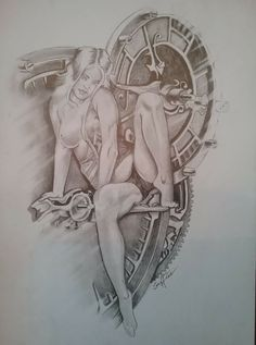 Fine Art Drawing, Figure Drawing, Art Sketches, Art Drawings, Female Drawing, Exotic Art, Cyberpunk Art, Character Art, Fantasy Art
