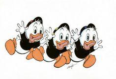 Akulla on kolme identtistä veljen poikaa: Tupu, Hupu ja Lupu