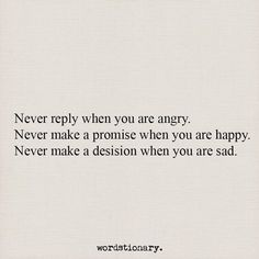 Never....