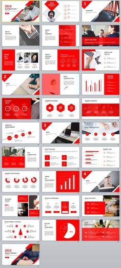 30+ Best Red business Plan PowerPoint template