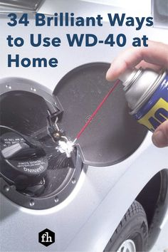 You already use WD-40 to loosen bolts and stop squeaking hinges, but did you know it could do these other amazing things? House Cleaning Tips, Cleaning Hacks, Wd 40 Uses, Bathtub Repair, Handy Man, Pallet Beds, Home Repairs, Lego Creations, Diy Home Improvement