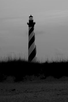 Cape Hatteras Lighthouse Black And White
