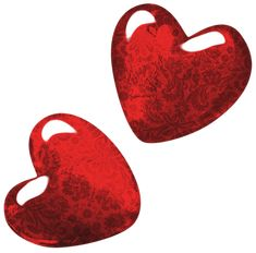 Red Art Hearts PNG Clipart Picture
