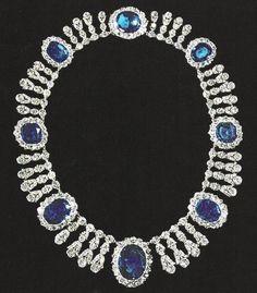 Empress Josephine Saphire & Diamond Necklace