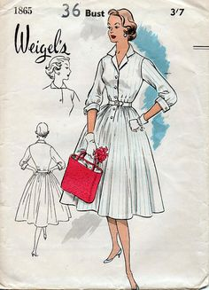 1950s Shirtwaist Dre