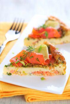 caramel à la fleur de sel: Tortilla di salmone e camembert