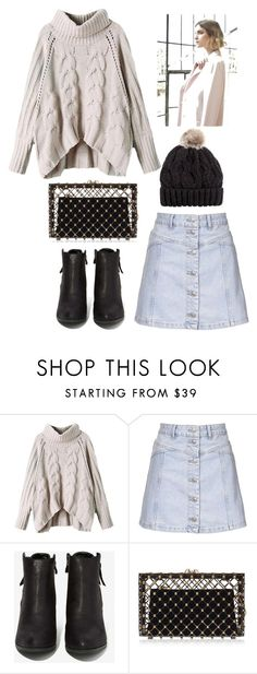 """""""Untitled #69"""" by hien-anhhs on Polyvore featuring Topshop, N.Y.L.A., Charlotte Olympia, H&M, Nuevo, women's clothing, women, female, woman and misses"""