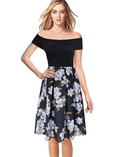 Vfemage Womens Vintage Floral Print Wear To Work Casual A-Line Skater Dress  http://www.artydress.com/vfemage-womens-vintage-floral-print-wear-to-work-casual-a-line-skater-dress/